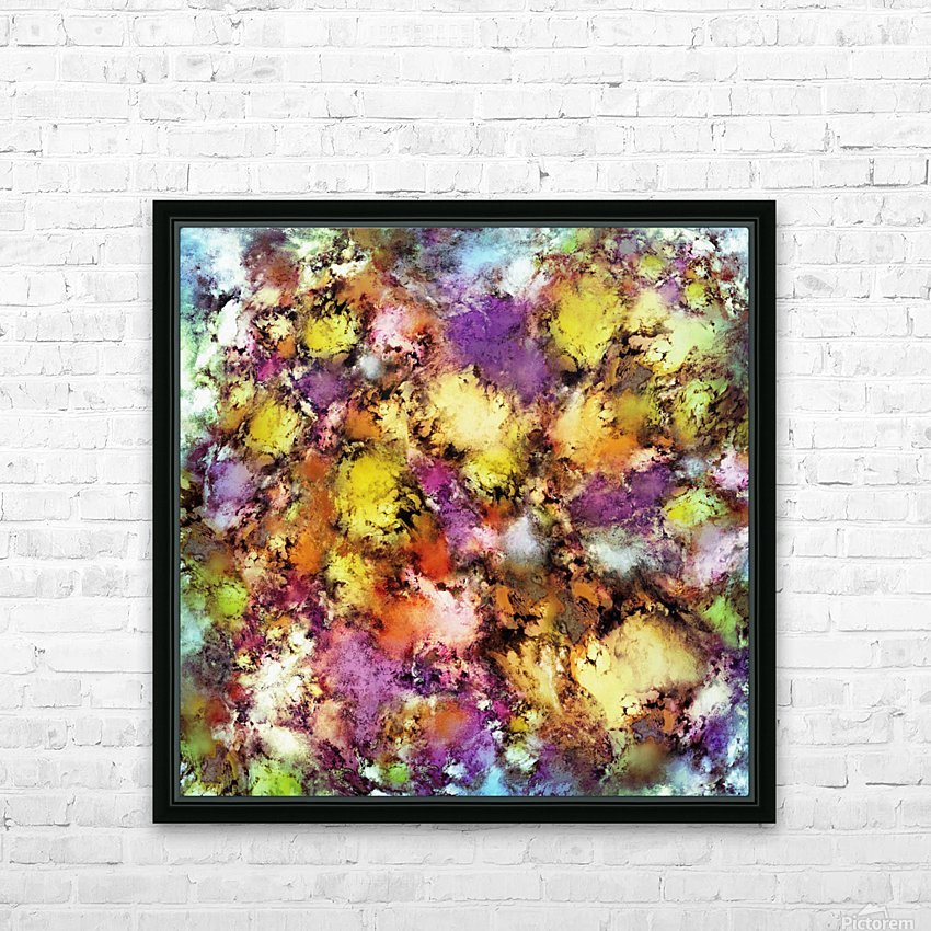 Dismantling the flowers HD Sublimation Metal print with Decorating Float Frame (BOX)