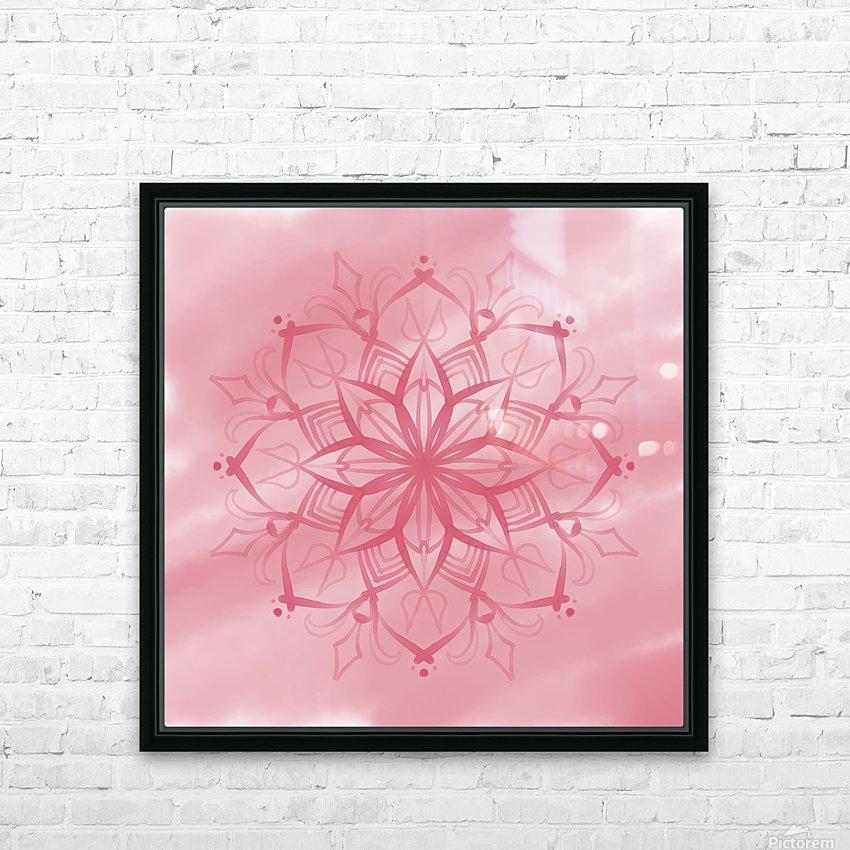 pink mandala HD Sublimation Metal print with Decorating Float Frame (BOX)