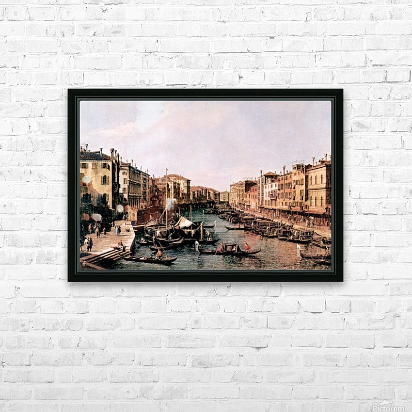 Grand Canal -2- by Canaletto HD Sublimation Metal print with Decorating Float Frame (BOX)