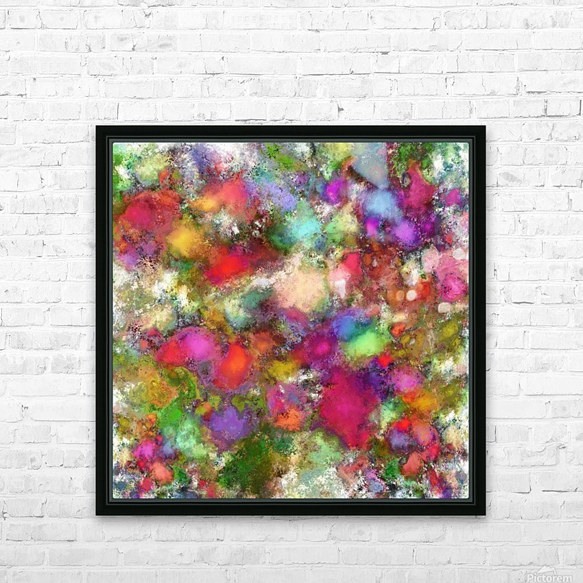 Falling petals HD Sublimation Metal print with Decorating Float Frame (BOX)
