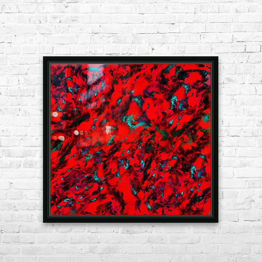 Fluttering red HD Sublimation Metal print with Decorating Float Frame (BOX)