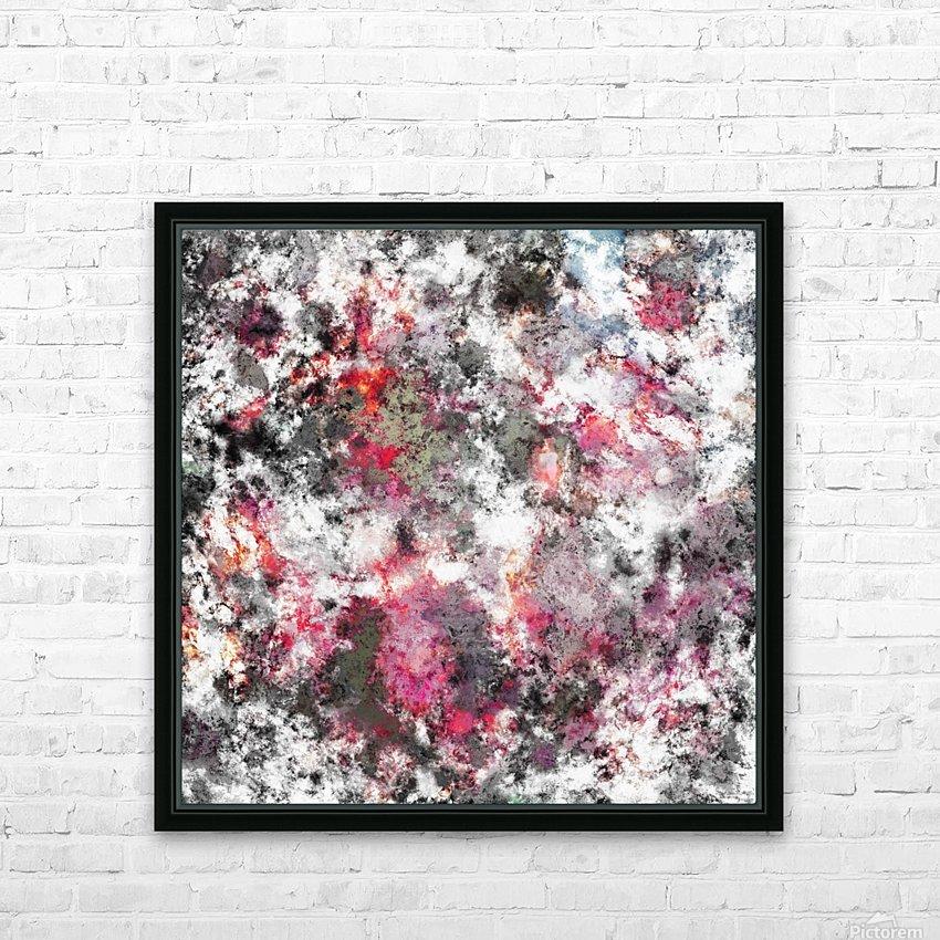 Frosty pink HD sublimation métal imprimé avec décoration flotteur cadre (boîte)
