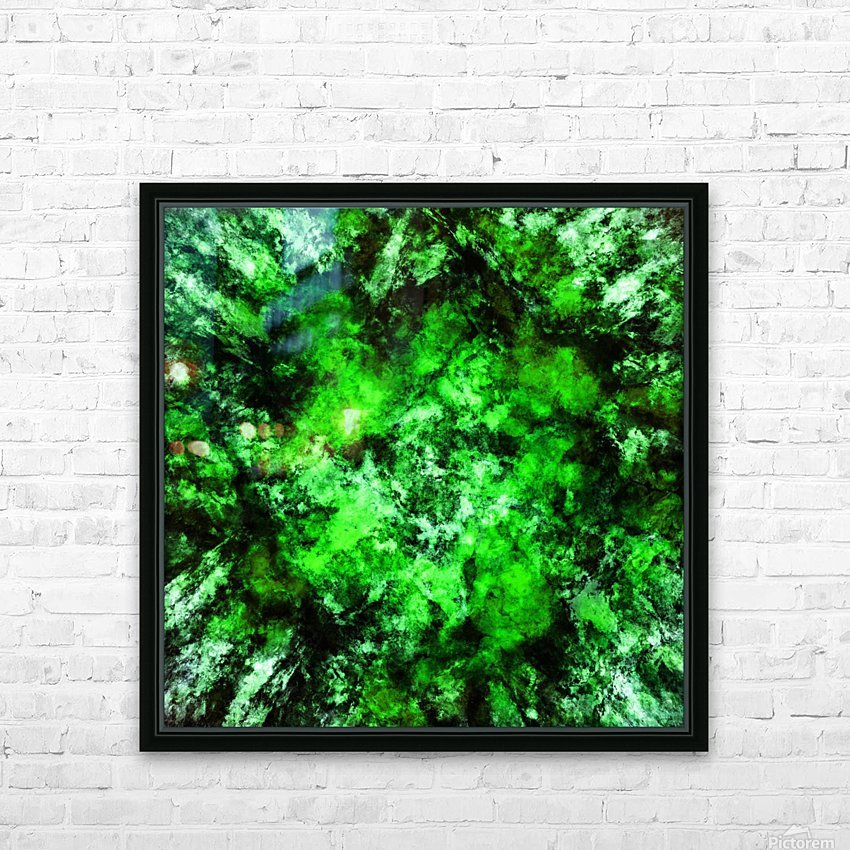 Green burst HD Sublimation Metal print with Decorating Float Frame (BOX)