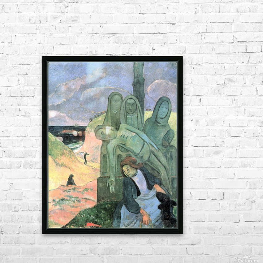 Green Christ by Gauguin HD Sublimation Metal print with Decorating Float Frame (BOX)