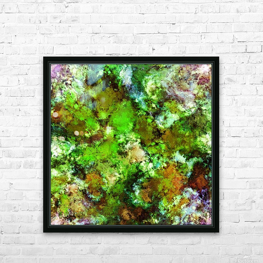 Green scene HD Sublimation Metal print with Decorating Float Frame (BOX)