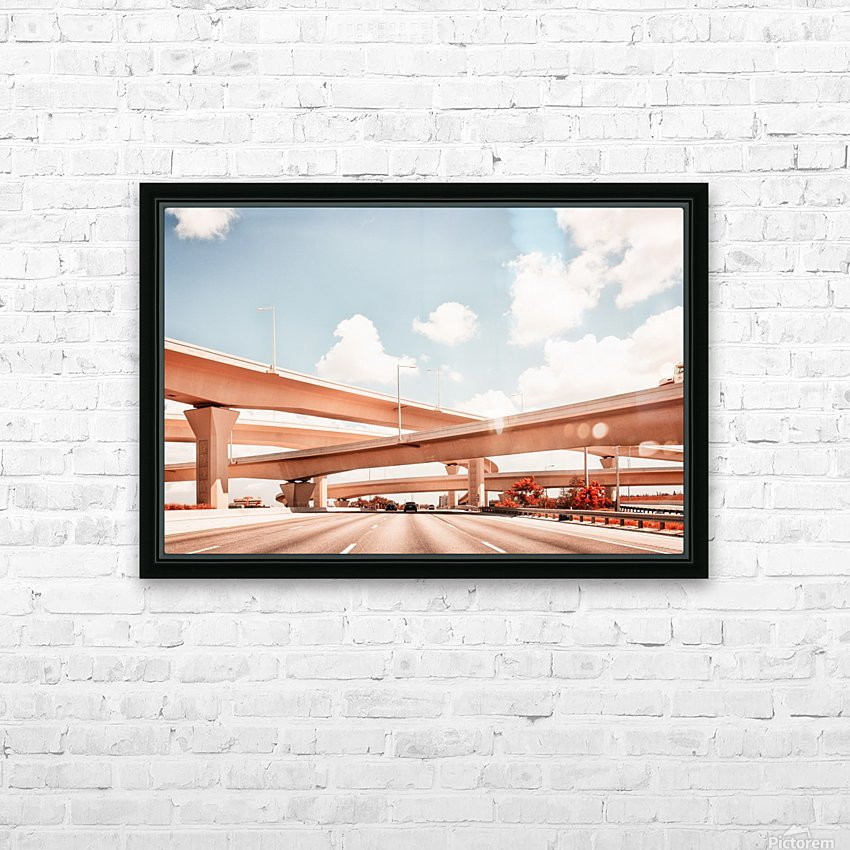 Dolphin Expressway 002 HD Sublimation Metal print with Decorating Float Frame (BOX)