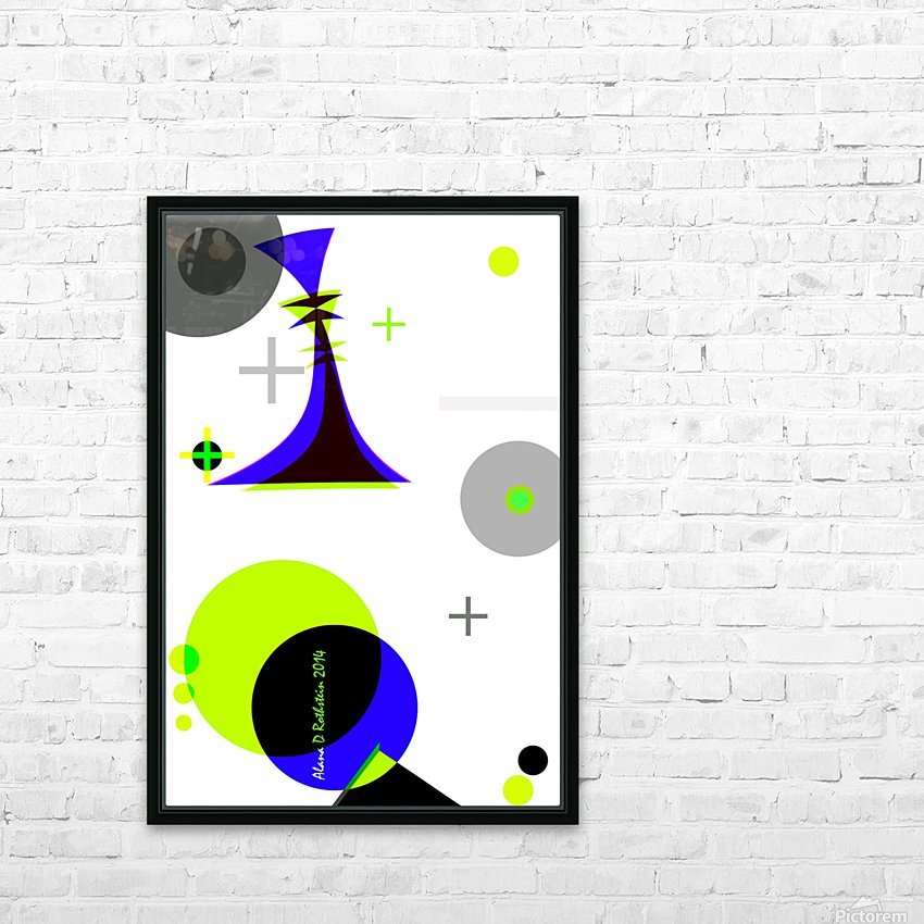 MATH 3 HD Sublimation Metal print with Decorating Float Frame (BOX)