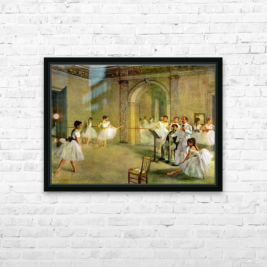 Hall of the Opera Ballet in the Rue Peletier by Degas HD Sublimation Metal print with Decorating Float Frame (BOX)