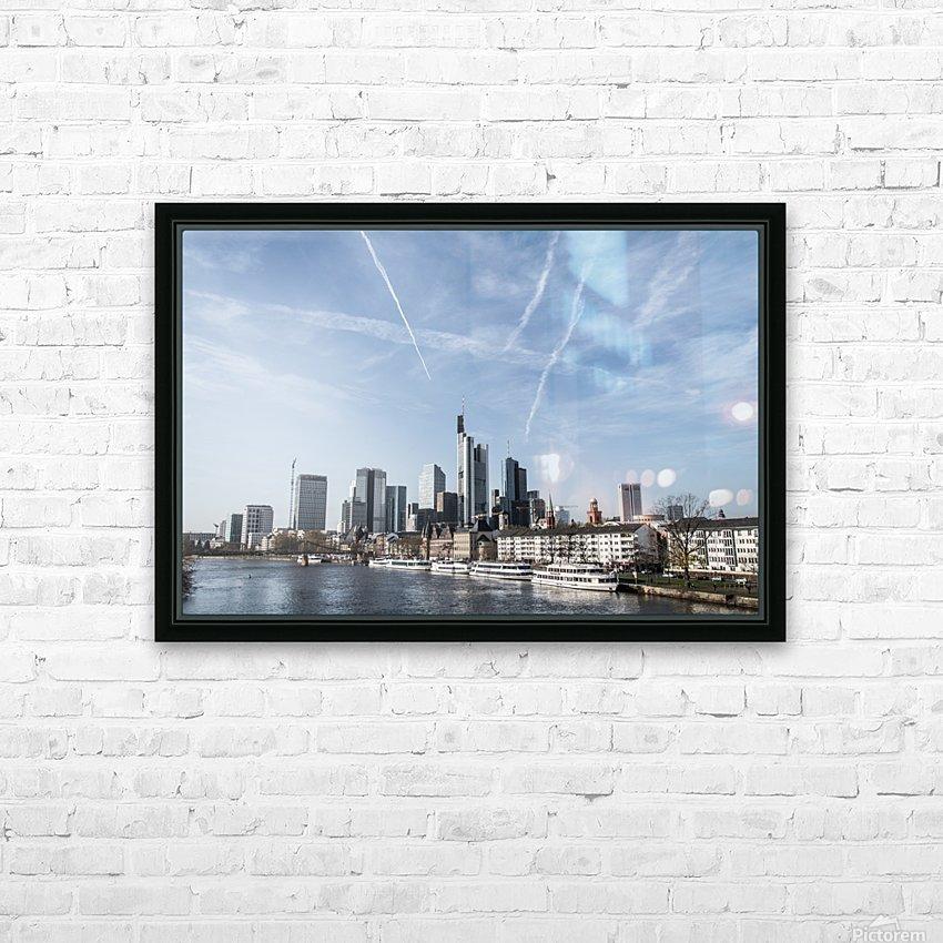 frankfurt skyscraper HD Sublimation Metal print with Decorating Float Frame (BOX)