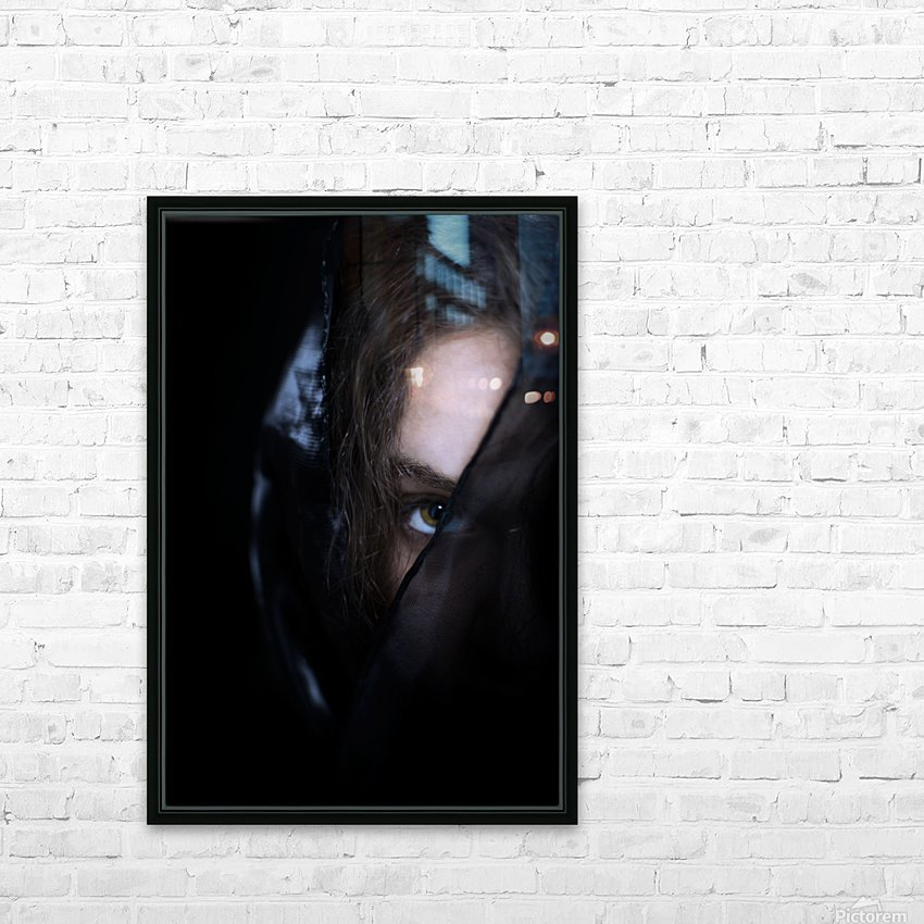 low key dark girl portrait HD Sublimation Metal print with Decorating Float Frame (BOX)