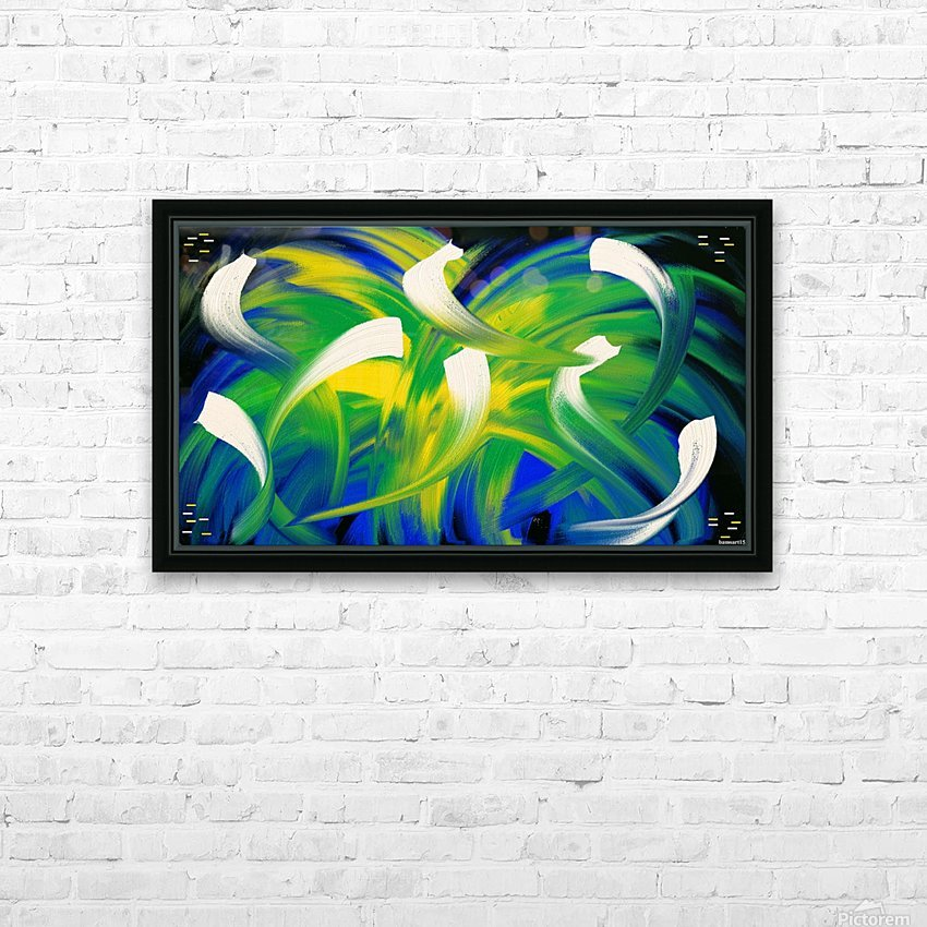 Alien Planet HD Sublimation Metal print with Decorating Float Frame (BOX)