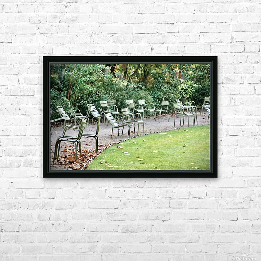 Chaises du Luxembourg   6 HD Sublimation Metal print with Decorating Float Frame (BOX)