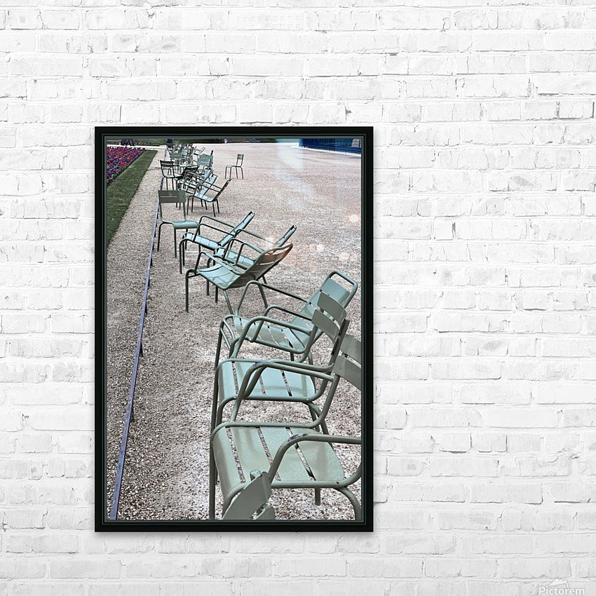 Chaises du Luxembourg   1 HD Sublimation Metal print with Decorating Float Frame (BOX)