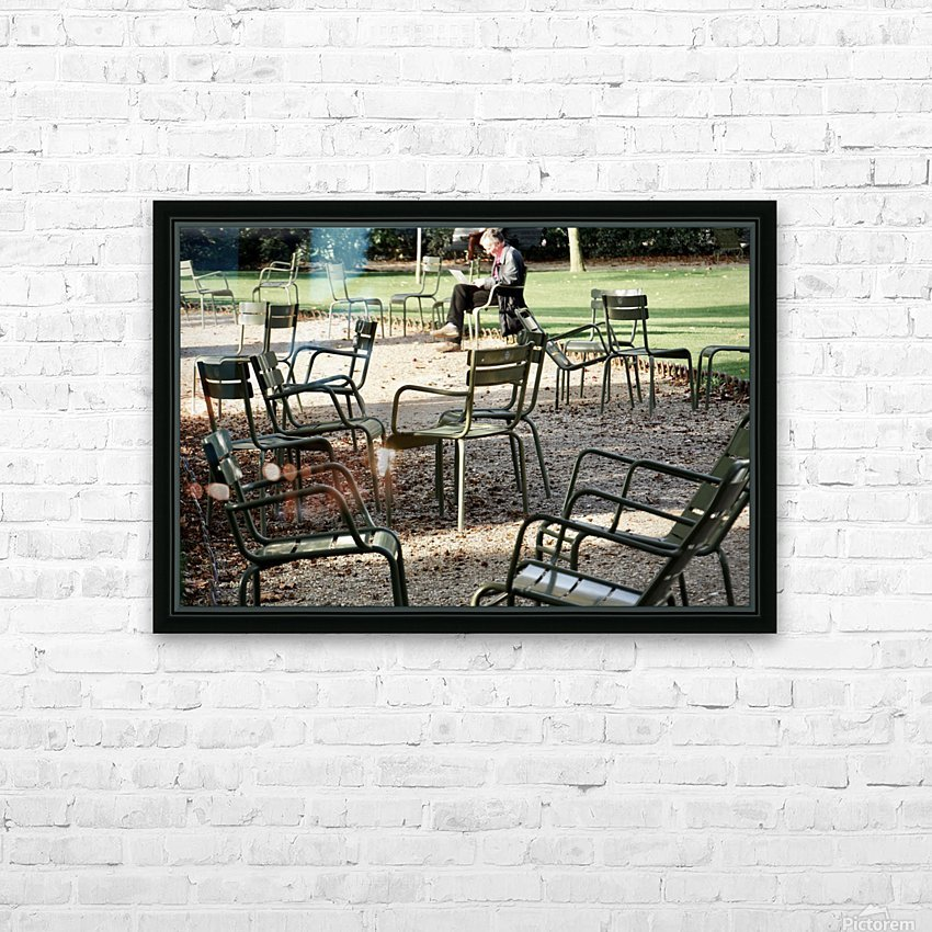 Chaises du Luxembourg   2 HD Sublimation Metal print with Decorating Float Frame (BOX)