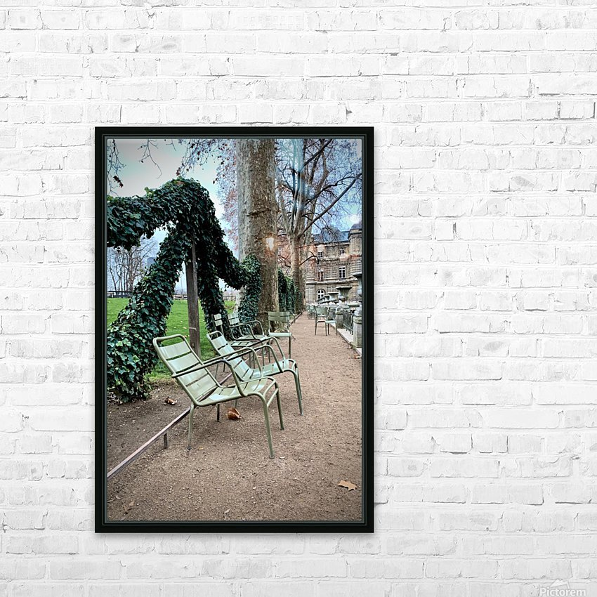 Chaises du Luxembourg   7 HD Sublimation Metal print with Decorating Float Frame (BOX)