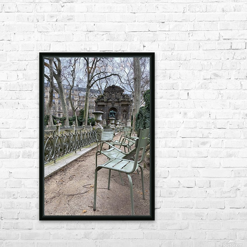 Chaises du Luxembourg   10 HD Sublimation Metal print with Decorating Float Frame (BOX)