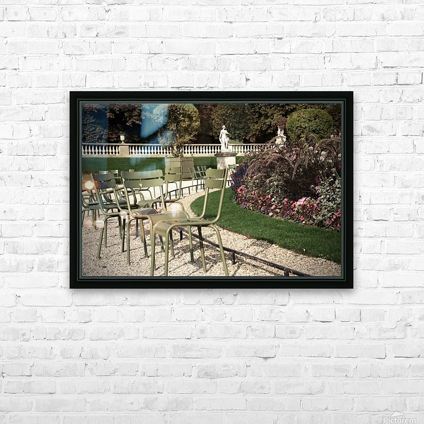 Chaises du Luxembourg   8 HD Sublimation Metal print with Decorating Float Frame (BOX)