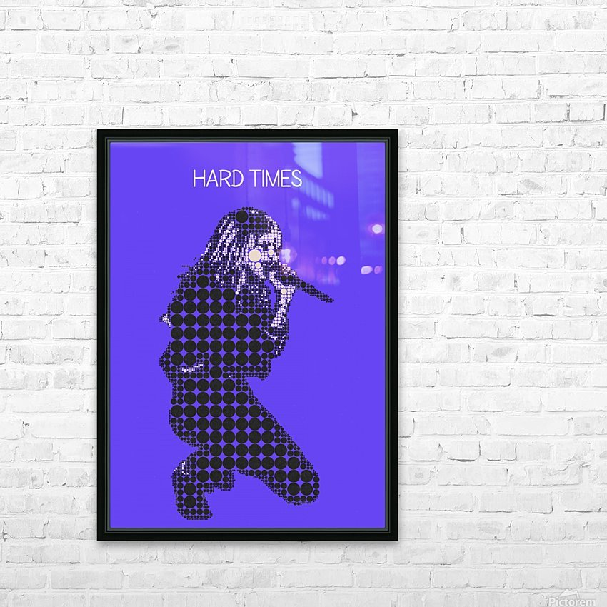 Hard Times   Paramore HD Sublimation Metal print with Decorating Float Frame (BOX)