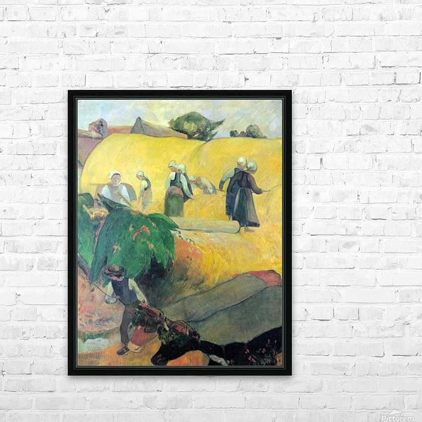 Harvest In Brittany by Gauguin HD Sublimation Metal print with Decorating Float Frame (BOX)