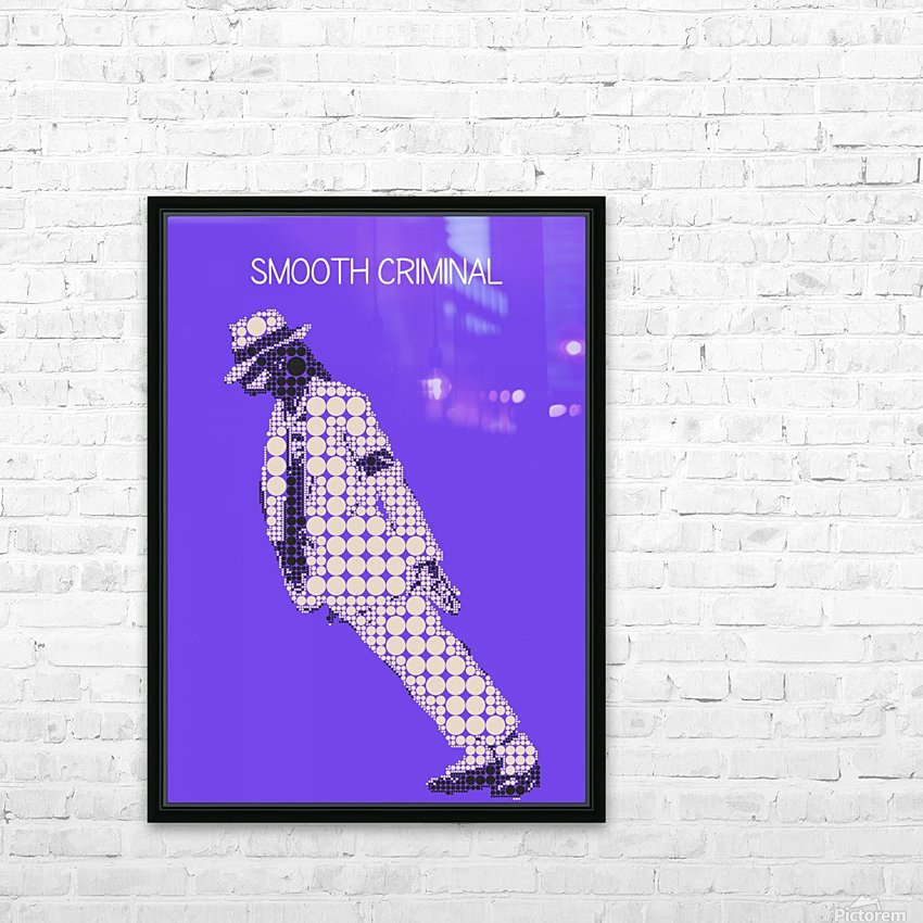 michael jackson_Smooth Criminal HD Sublimation Metal print with Decorating Float Frame (BOX)