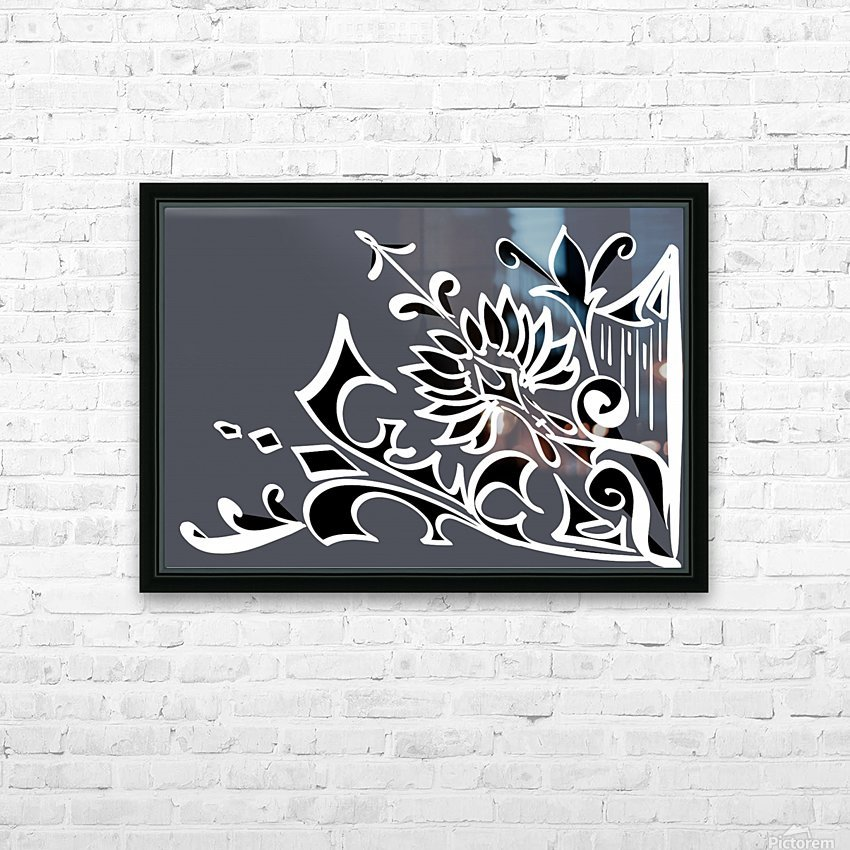 tricolor abstract HD Sublimation Metal print with Decorating Float Frame (BOX)