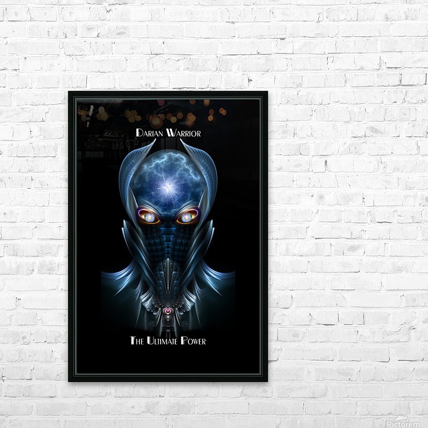 Darian Warrior The Ultimate Power Fractal Art Portrait HD Sublimation Metal print with Decorating Float Frame (BOX)
