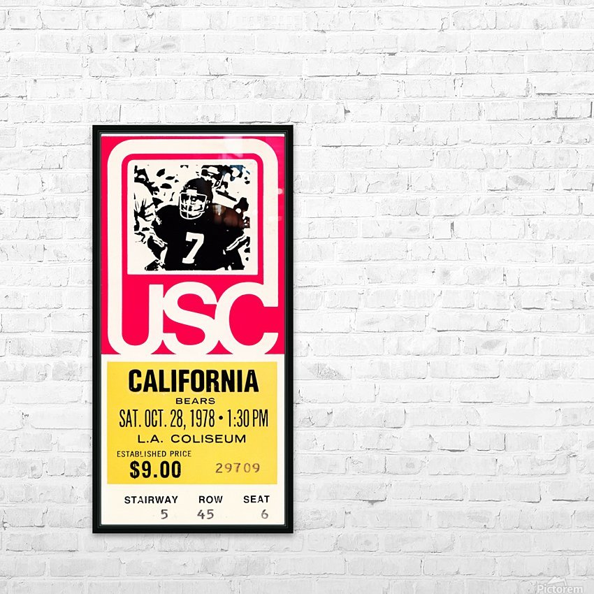 1978 usc trojans california ticket stub art poster HD Sublimation Metal print with Decorating Float Frame (BOX)