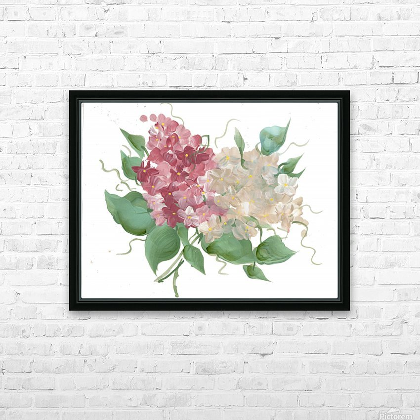 hydrangea HD Sublimation Metal print with Decorating Float Frame (BOX)