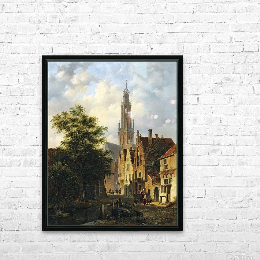 Bakenesserkerk seen from The Valkestraat, Haarlem HD Sublimation Metal print with Decorating Float Frame (BOX)