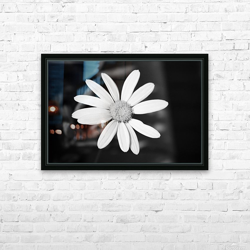 Beautifully White B&W HD Sublimation Metal print with Decorating Float Frame (BOX)