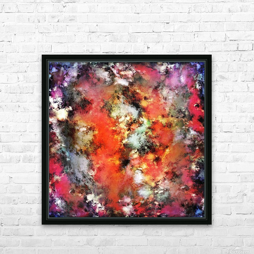 See the flames HD Sublimation Metal print with Decorating Float Frame (BOX)