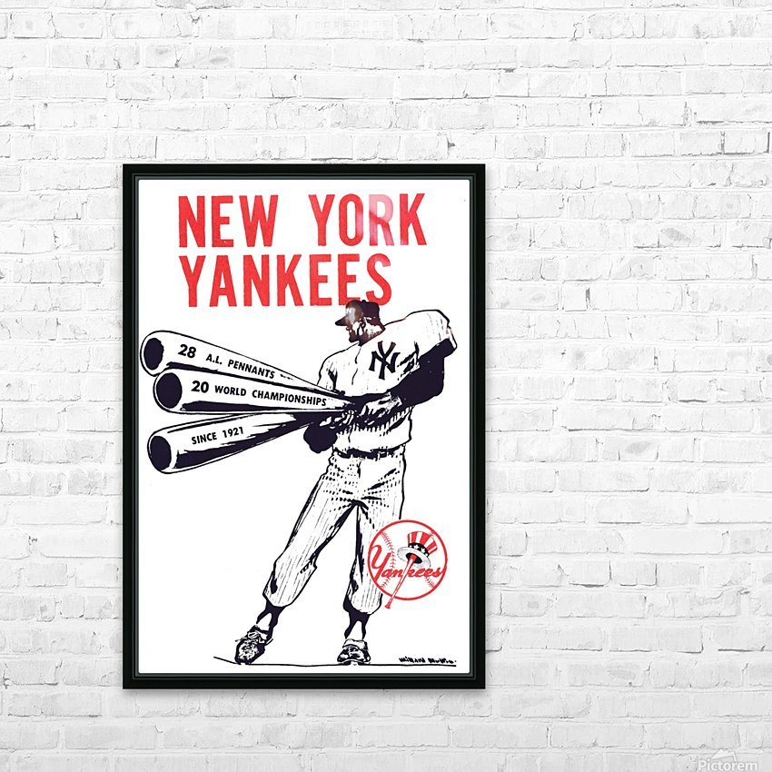 Artist Willard Mullin New York Yankees Art Poster HD Sublimation Metal print with Decorating Float Frame (BOX)