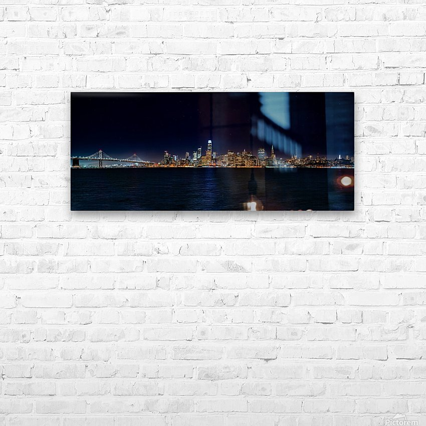 San Francisco City Skyline Panorama HD Sublimation Metal print with Decorating Float Frame (BOX)