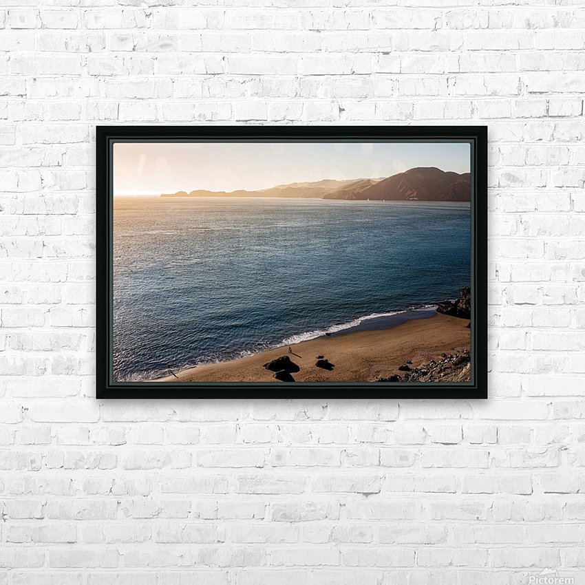 Marshall Beach Sunsets HD Sublimation Metal print with Decorating Float Frame (BOX)