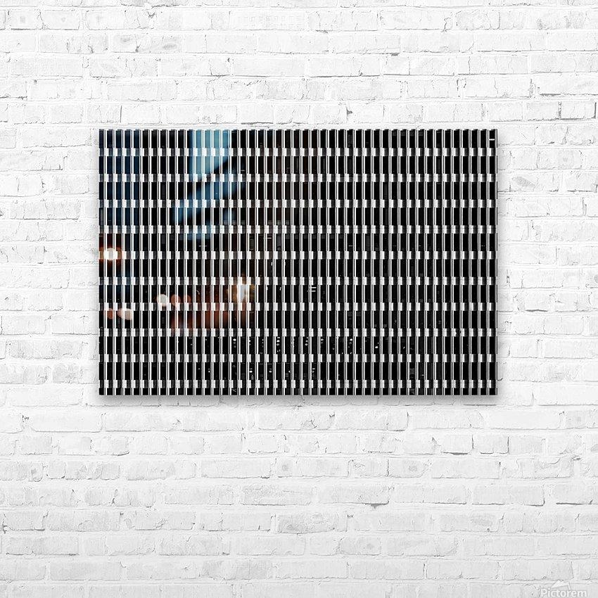 Black and White Skyscraper Windows HD sublimation métal imprimé avec décoration flotteur cadre (boîte)