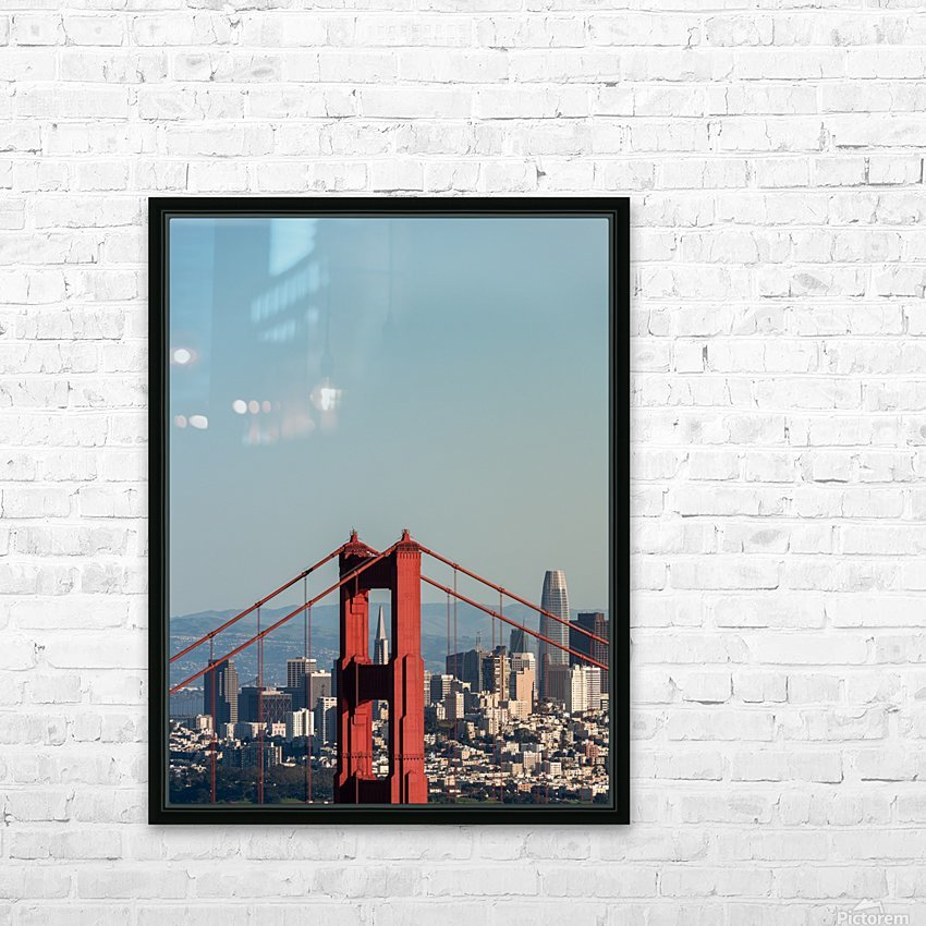 Threading the Needle - Golden Gate Bridge HD Sublimation Metal print with Decorating Float Frame (BOX)