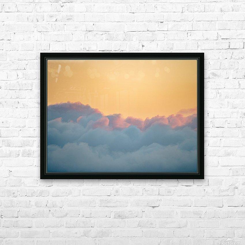 Clouds at Sunset HD sublimation métal imprimé avec décoration flotteur cadre (boîte)