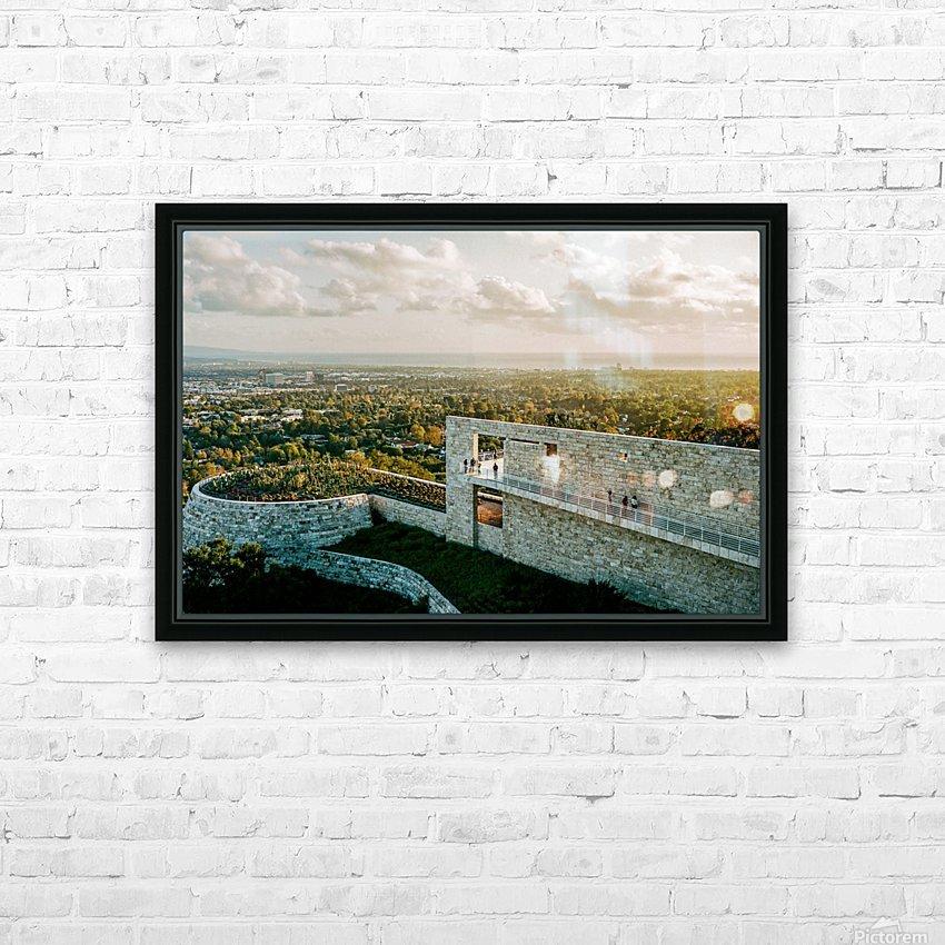 Sunset At The Getty HD sublimation métal imprimé avec décoration flotteur cadre (boîte)
