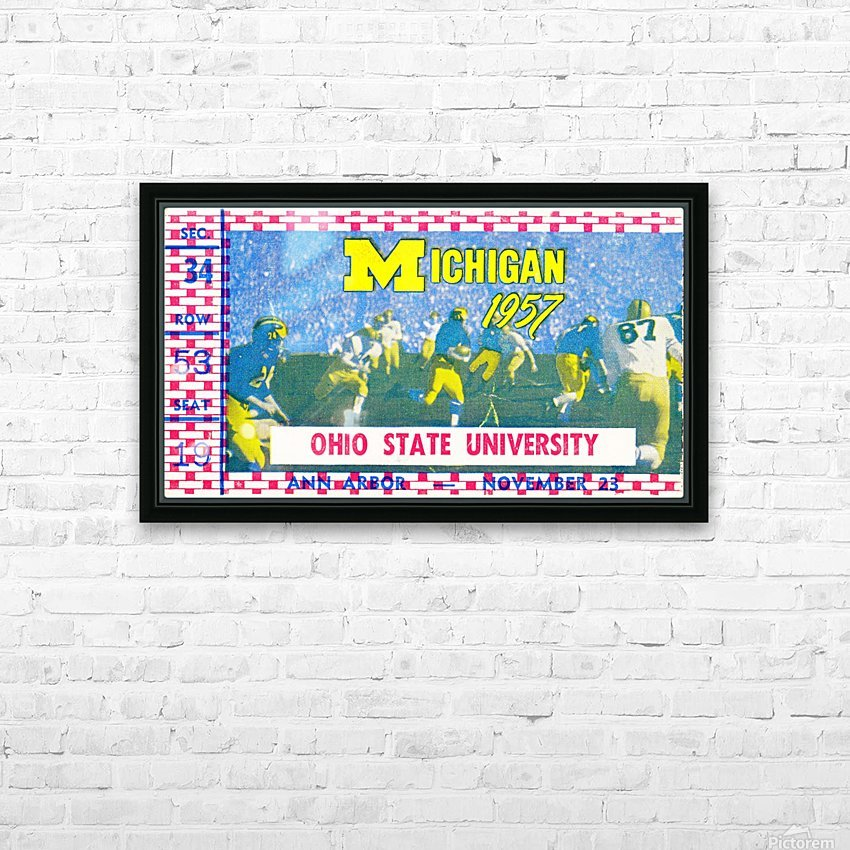 1957 Ohio State vs. Michigan HD Sublimation Metal print with Decorating Float Frame (BOX)