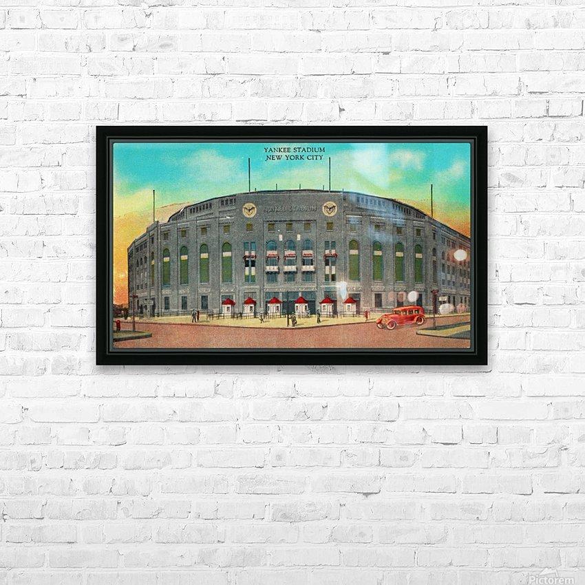 1935 Vintage New York Yankees Stadium Art HD Sublimation Metal print with Decorating Float Frame (BOX)
