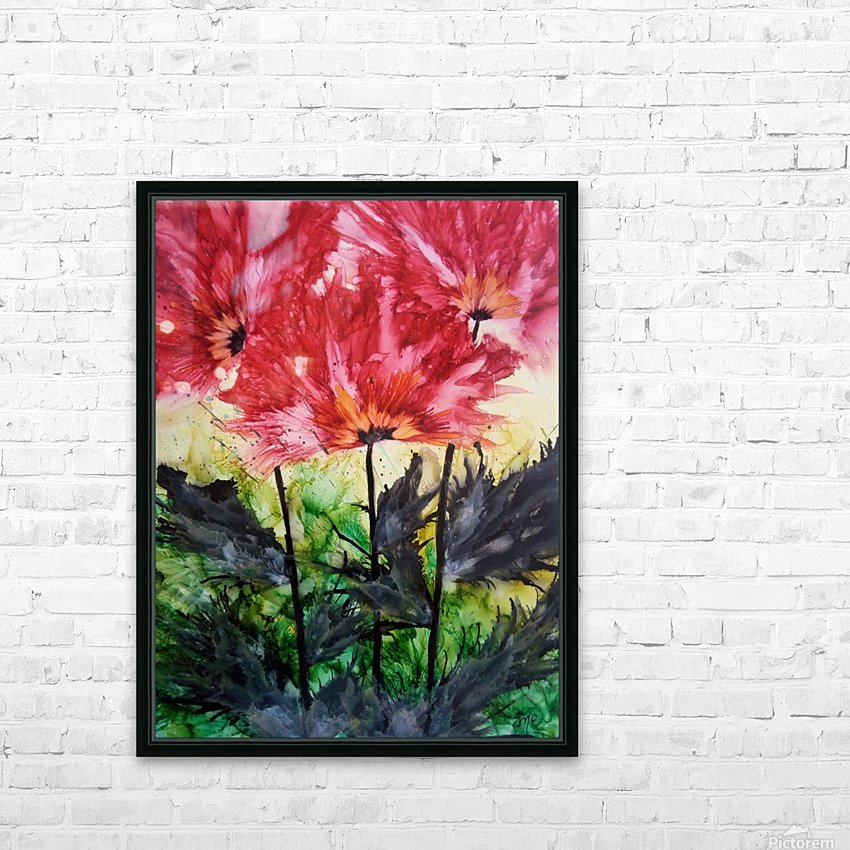 Poppies Galore HD Sublimation Metal print with Decorating Float Frame (BOX)