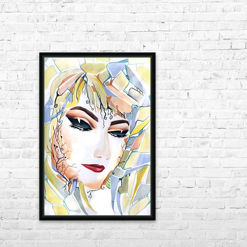 Chic Artistic Feminine Portrait HD Sublimation Metal print with Decorating Float Frame (BOX)