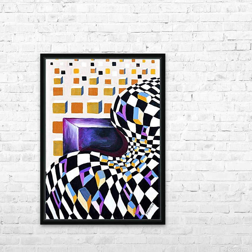 Retro Minimalism Abstract Chess Pattern HD Sublimation Metal print with Decorating Float Frame (BOX)