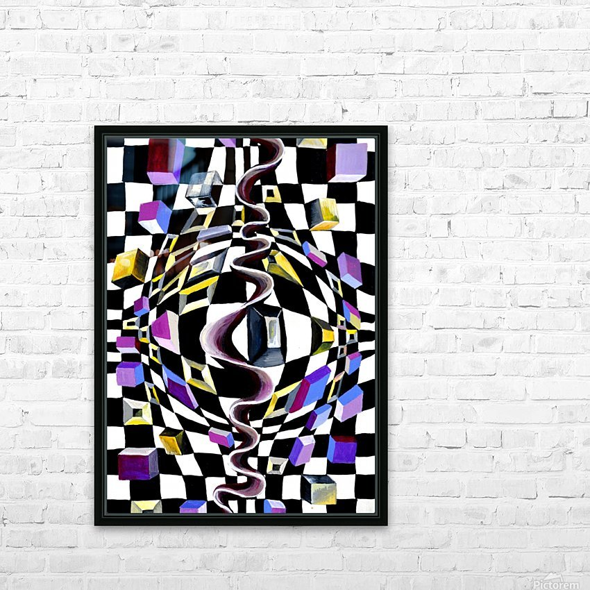 Watercolor Abstract Chess Pattern HD Sublimation Metal print with Decorating Float Frame (BOX)