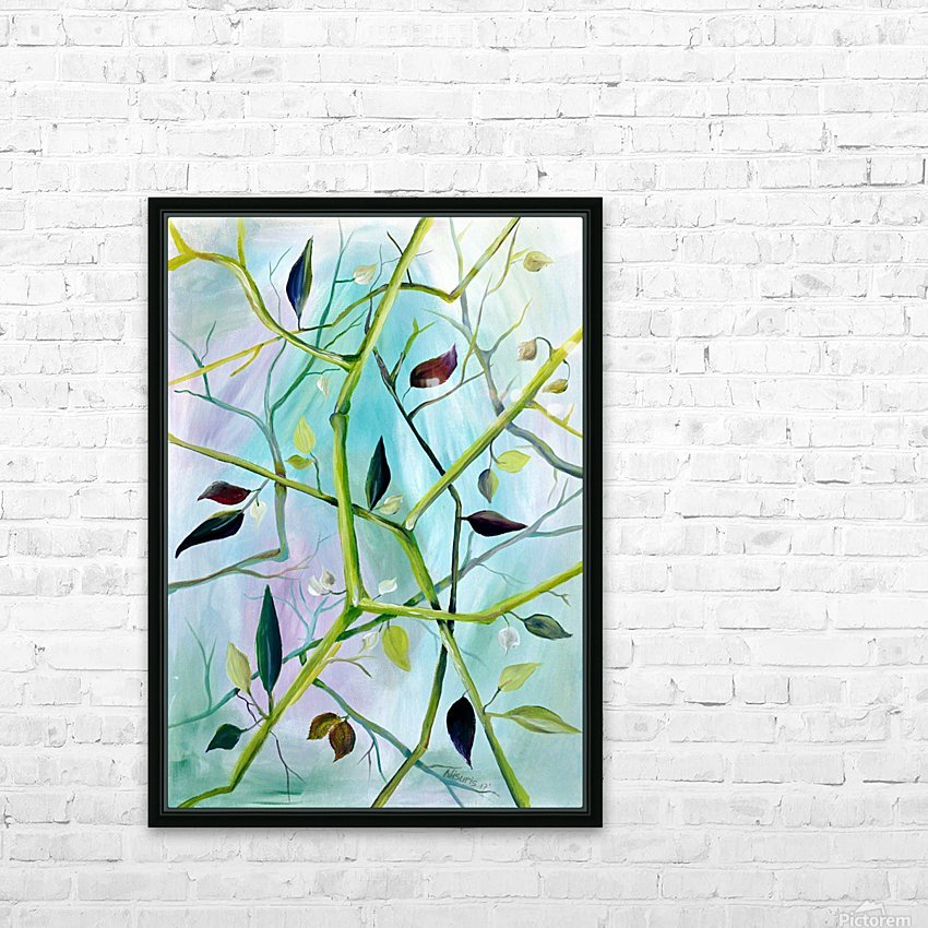Realm of Greenery Foliage HD Sublimation Metal print with Decorating Float Frame (BOX)