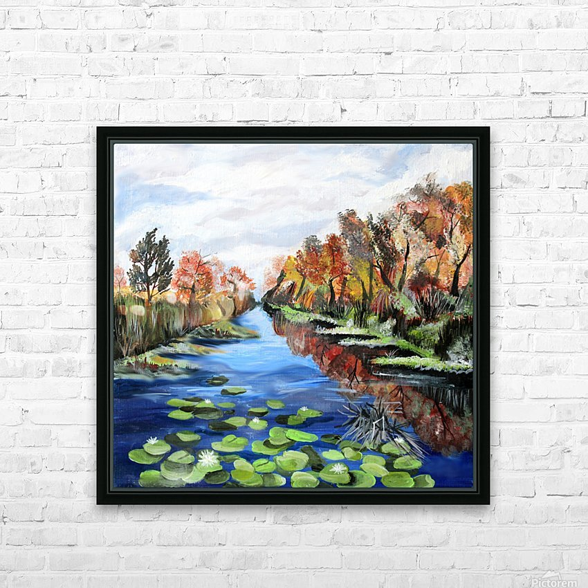 Danube River Watercolor Seascape HD Sublimation Metal print with Decorating Float Frame (BOX)