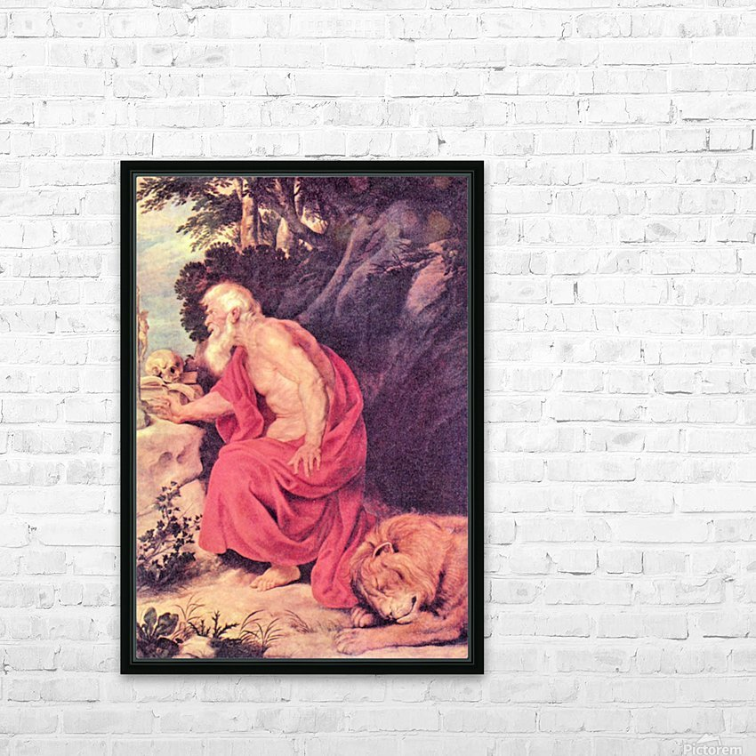Hieronymus by Rubens HD Sublimation Metal print with Decorating Float Frame (BOX)