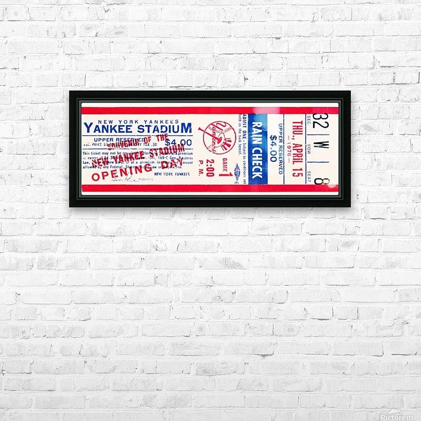 1976 new york yankees yankee stadium ticket stub art poster HD Sublimation Metal print with Decorating Float Frame (BOX)