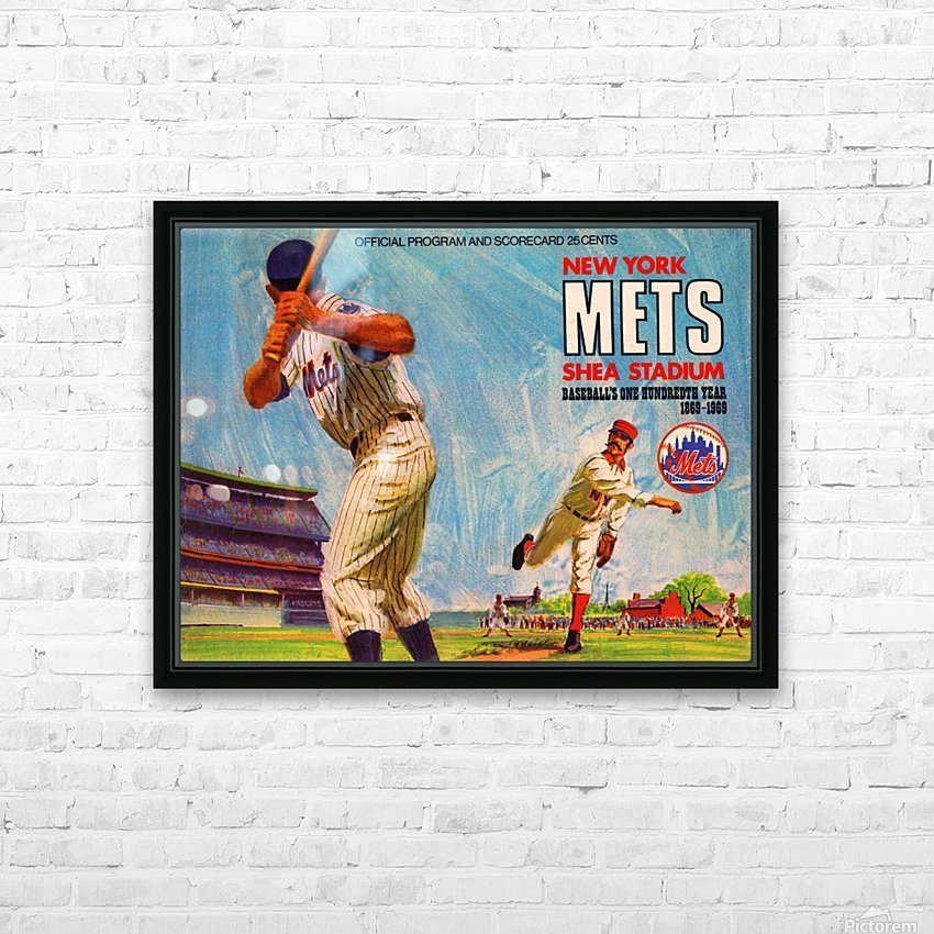 1969 New York Mets HD Sublimation Metal print with Decorating Float Frame (BOX)