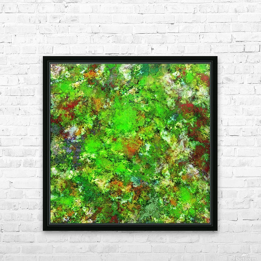 Slippery green rocks HD Sublimation Metal print with Decorating Float Frame (BOX)